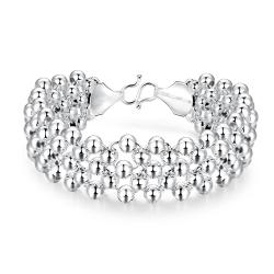 Vienna Jewelry Sterling Silver Thick Pearl Bracelet - Thumbnail 0
