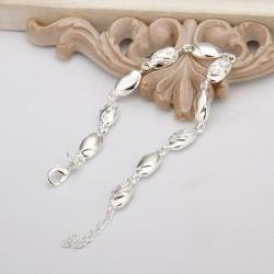 Vienna Jewelry Sterling Silver Petite Sea Shell Connected Bracelet - Thumbnail 0