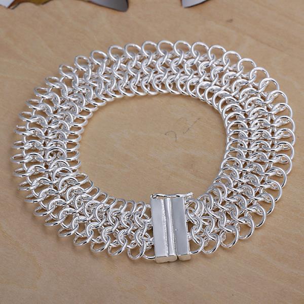 Vienna Jewelry Sterling Silver Multi-Chain Magnet Lock Bracelet