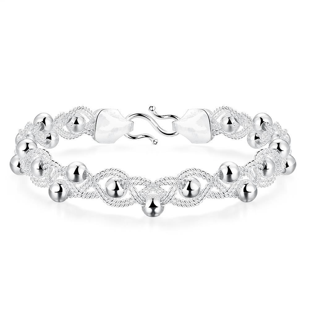 Vienna Jewelry Sterling Silver Thin Pearl Beads Bracelet