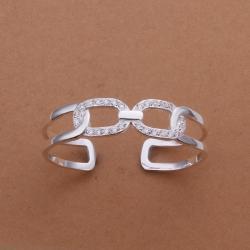 Sterling Silver Multi-Chain Lock Bangle - Thumbnail 0