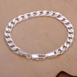 Vienna Jewelry Sterling Silver Curved Sleek Lined Bracelet - Thumbnail 0