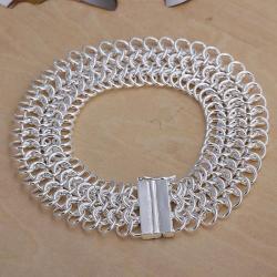 Vienna Jewelry Sterling Silver Multi-Chain Magnet Lock Bracelet - Thumbnail 0
