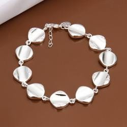 Vienna Jewelry Sterling Silver Multi Circular Shaped Connected Bracelet - Thumbnail 0