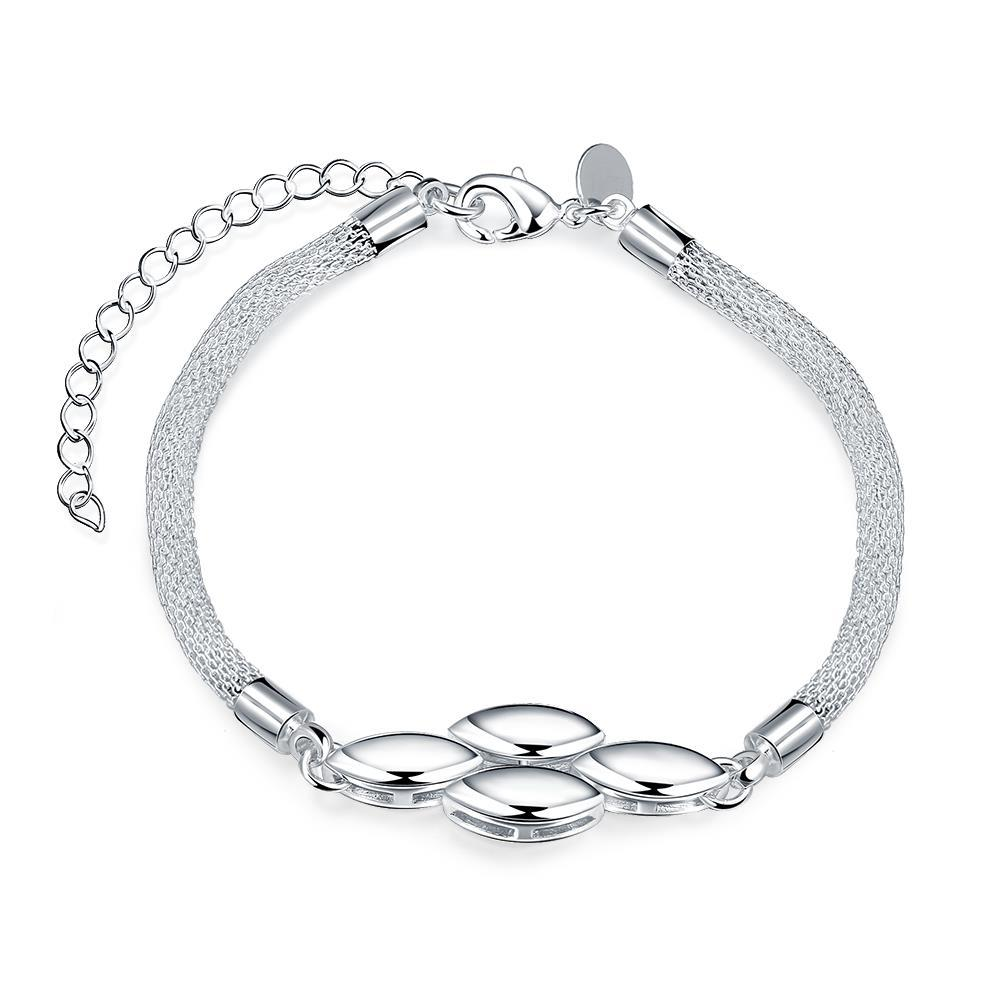 Vienna Jewelry Sterling Silver Multi Quad-Orchid Bracelet