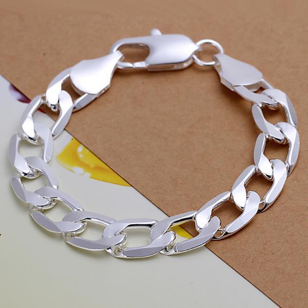 Vienna Jewelry Sterling Silver Classic Thick Cut Sleek Bracelet