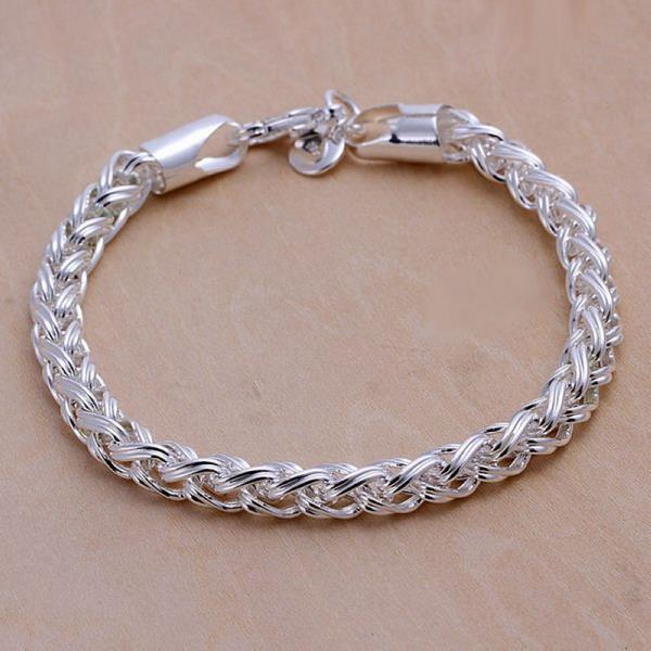 Vienna Jewelry Sterling Silver Thick Cut Classic Chain Bracelet