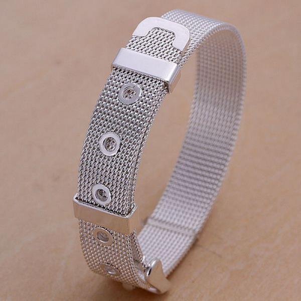 Vienna Jewelry Sterling Silver Belt Buckle Inspired Bracelet
