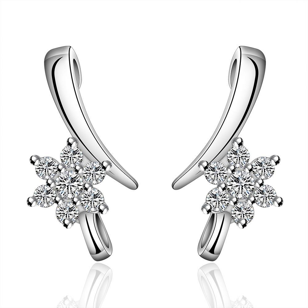 Vienna Jewelry Sterling Silver Linear Crystal Earring