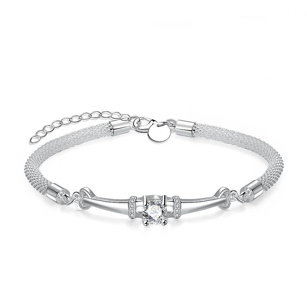 Vienna Jewelry Sterling Silver Crystal Loop Bracelet