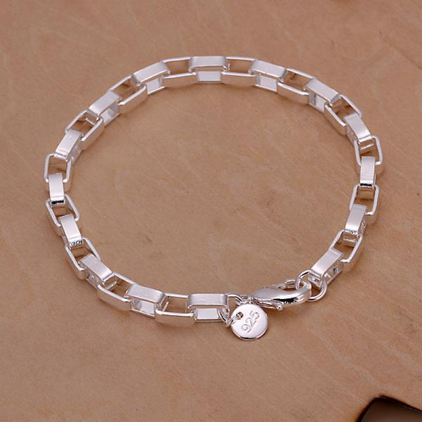 Vienna Jewelry Sterling Silver Cubed Shaped Bracelet