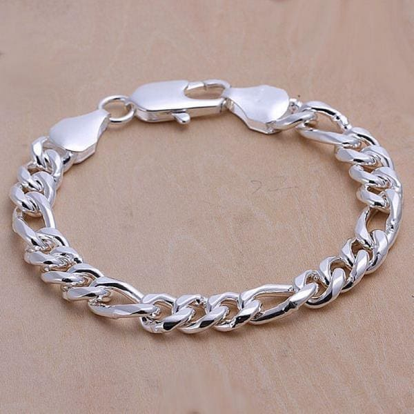 Vienna Jewelry Sterling Silver Classic Sleek London Bracelet