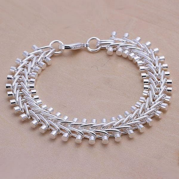 Vienna Jewelry Sterling Silver Multi-Beaded Bracelet