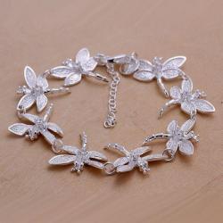 Vienna Jewelry Sterling Silver Multi-Butterfly Surronding Bracelet - Thumbnail 0