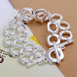 Vienna Jewelry Sterling Silver Muli Hollow Circular Bracelet - Thumbnail 0