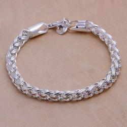 Vienna Jewelry Sterling Silver Thick Cut Classic Chain Bracelet - Thumbnail 0