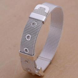 Vienna Jewelry Sterling Silver Belt Buckle Inspired Bracelet - Thumbnail 0