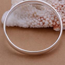 Sterling Silver Petite Modern Bangle - Thumbnail 0