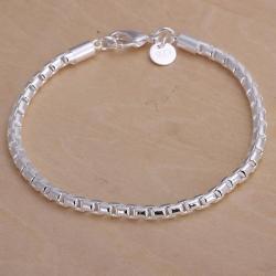 Vienna Jewelry Sterling Silver Sleek Modern Petite Bracelet - Thumbnail 0