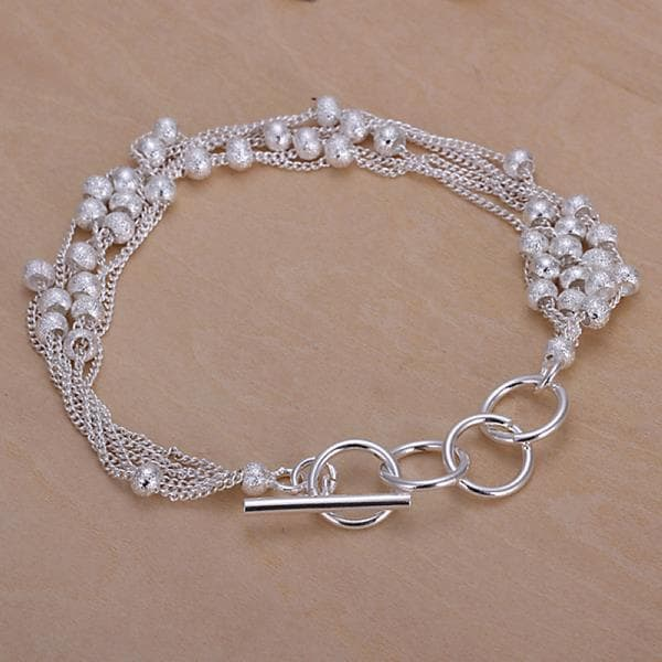 Vienna Jewelry Sterling Silver Multi Pearl Orchid Clasp Closure Bracelet