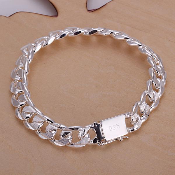 Vienna Jewelry Sterling Silver Modern Sleek Bracelet