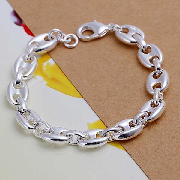 Vienna Jewelry Sterling Silver Abstract Connecting Bracelet