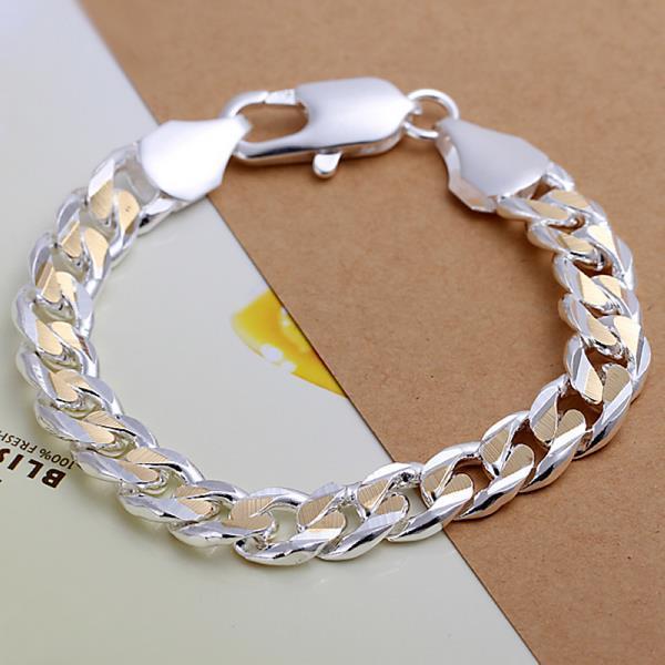 Vienna Jewelry Sterling Silver Gold Coloring Modern Sleek Bracelet