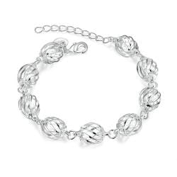 Vienna Jewelry Sterling Silver Laser Cut Disco Ball Connecting Bracelet - Thumbnail 0