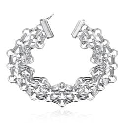 Vienna Jewelry Sterling Silver Multi Floral Intertwined Bracelet - Thumbnail 0