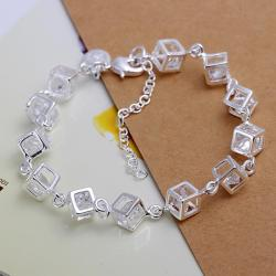 Vienna Jewelry Sterling Silver Multi Cubed Bracelet - Thumbnail 0