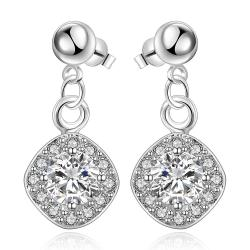 Vienna Jewelry Sterling Silver Crystal Filled Pendant Classical Drop Earring - Thumbnail 0