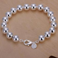Vienna Jewelry Sterling Silver Mid Size Pearl Bracelet - Thumbnail 0