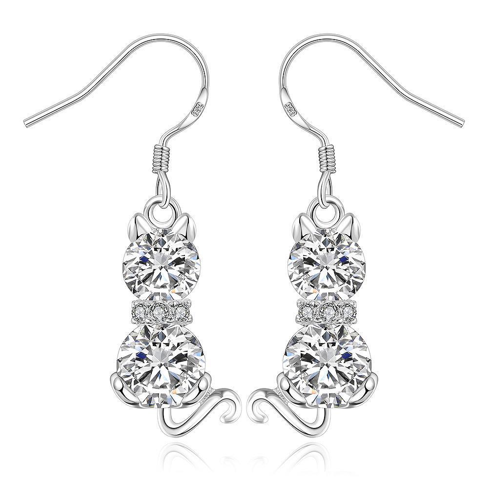 Vienna Jewelry Sterling Silver Drop Grape Vine Orchid Earring