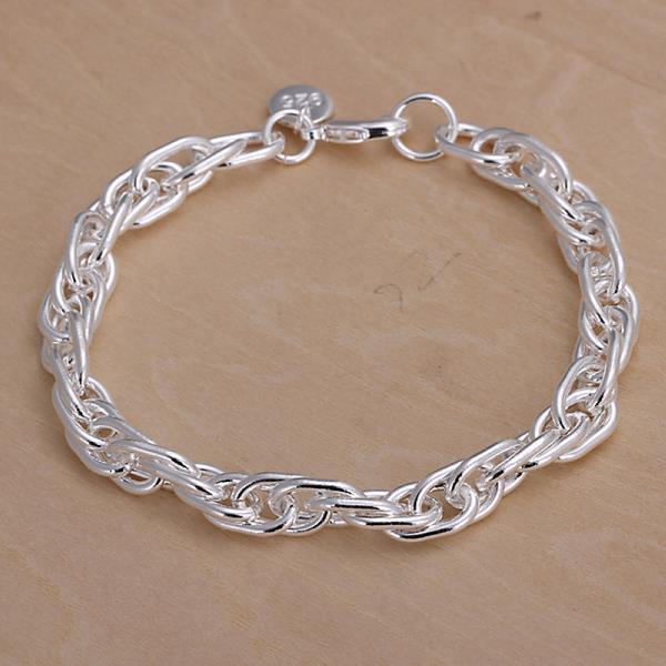 Vienna Jewelry Sterling Silver Curved Design Bracelet