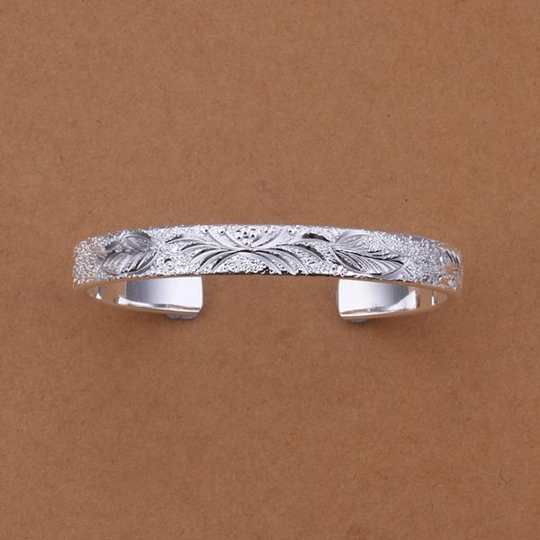 Vienna Jewelry Sterling Silver Roman Inspired Ingrain Open Bangle