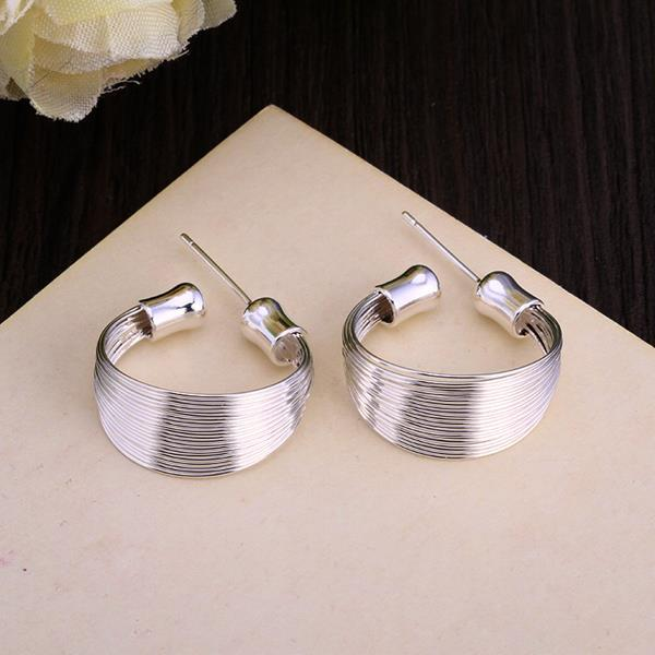 Vienna Jewelry Sterling Silver Wire Layering Hoop Earring