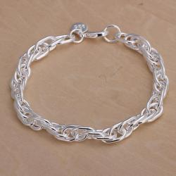 Vienna Jewelry Sterling Silver Curved Design Bracelet - Thumbnail 0