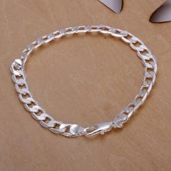 Vienna Jewelry Sterling Silver Petite Sleek Lined Bracelet - Thumbnail 0