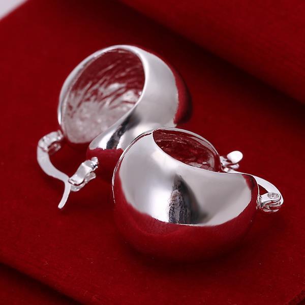 Vienna Jewelry Sterling Silver Geometric Earring