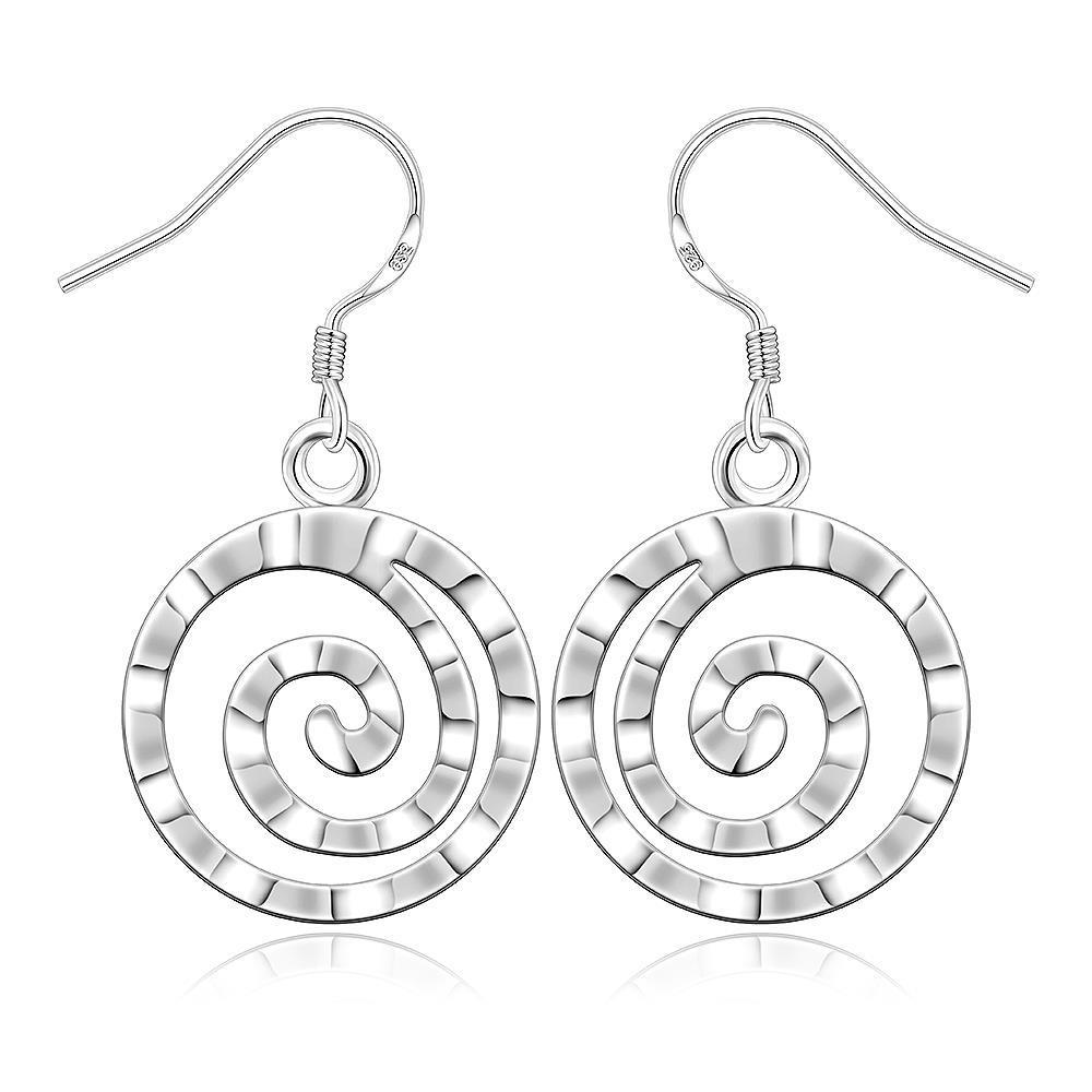 Vienna Jewelry Sterling Silver Abstract Swirl Earring