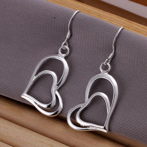 Vienna Jewelry Sterling Silver Trio-Hearts Drop Earring - Thumbnail 0