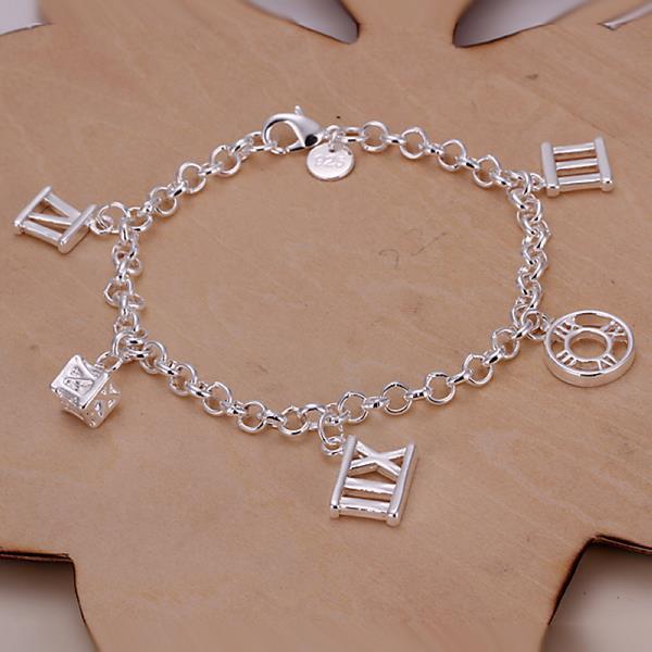 Vienna Jewelry Sterling Silver Roman Numberals Bracelet