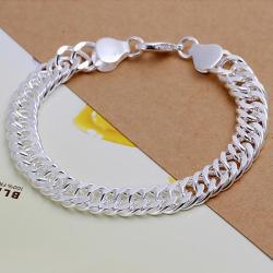Vienna Jewelry Sterling Silver Petite Sleek Classic Bracelet - Thumbnail 0