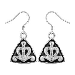 Vienna Jewelry Sterling Silver Pyramid Abstract Design Drop Earring - Thumbnail 0