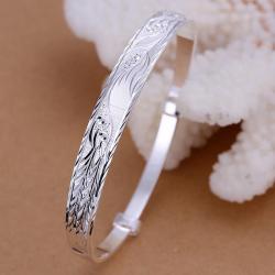 Sterling Silver Designer Inspired Classic Bangle - Thumbnail 0