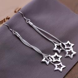 Vienna Jewelry Sterling Silver Multi-Stars Drop Earring - Thumbnail 0