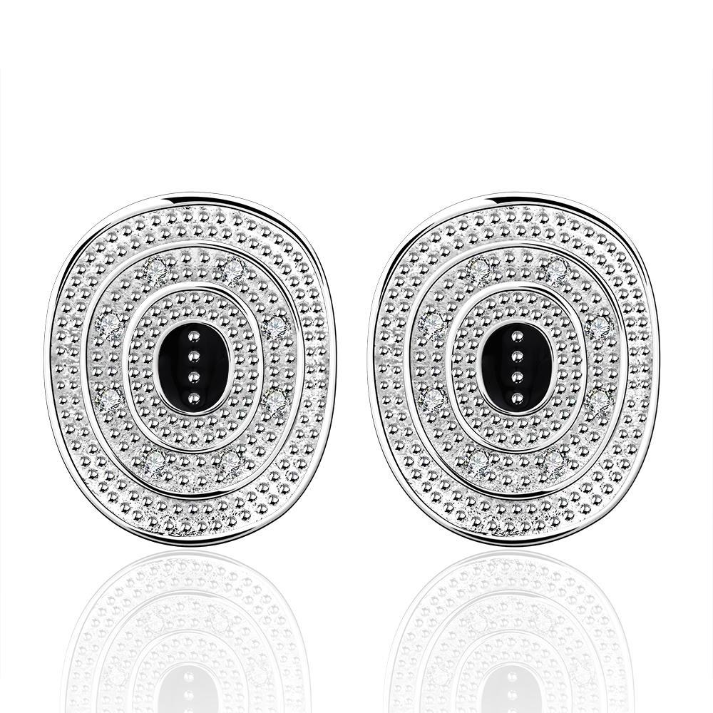 Vienna Jewelry Sterling Silver Ancient Emblem Stud Earring