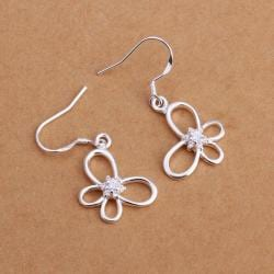 Vienna Jewelry Sterling Silver Hollow Petite Butterfly Earring - Thumbnail 0