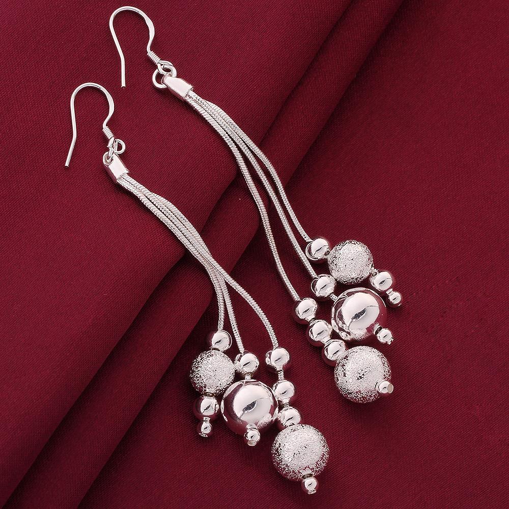 Vienna Jewelry Sterling Silver Grape Vine Drop Earring