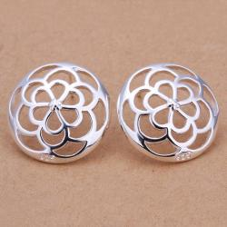 Vienna Jewelry Sterling Silver Filigree Clover Stud Earring - Thumbnail 0